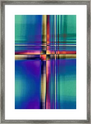 Crisscross 2 Framed Print by Tom Druin