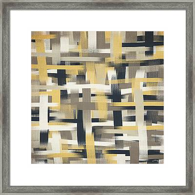 Crisscross Patch Framed Print