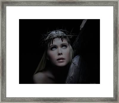 Crista Retrato Framed Print by Ramon Martinez