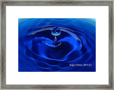 Cristal Blue Persuasion Framed Print