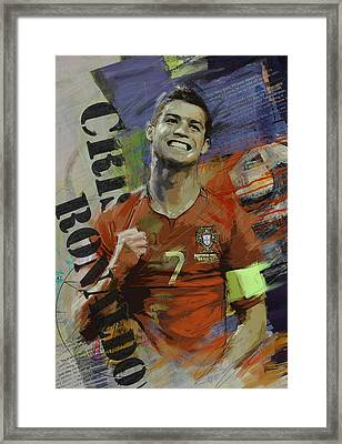 Cristiano Ronaldo - B Framed Print by Corporate Art Task Force