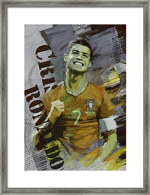 Cristiano Ronaldo Framed Print by Corporate Art Task Force