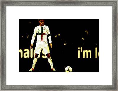 Cristiano Ronaldo Focus Framed Print by Brian Reaves