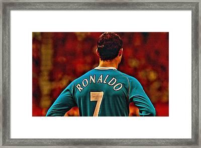 Cristiano Ronaldo Poster Art Framed Print by Florian Rodarte