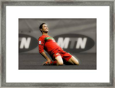 Cristiano Ronaldo Ready To Go Framed Print by Brian Reaves