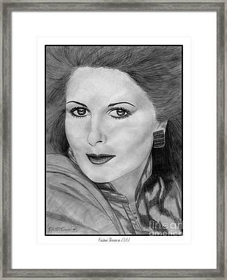 Cristina Ferrare In 1981 Framed Print by J McCombie