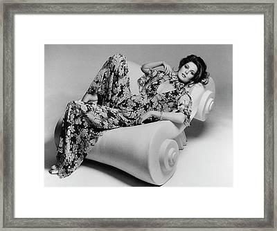 Cristina Ferrare Reclining In Chair Framed Print