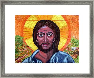 Cristo Pantocrator In Matagalpa Framed Print