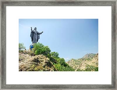 Cristo Rei Statue Near Dili East Timor Timor Leste Framed Print