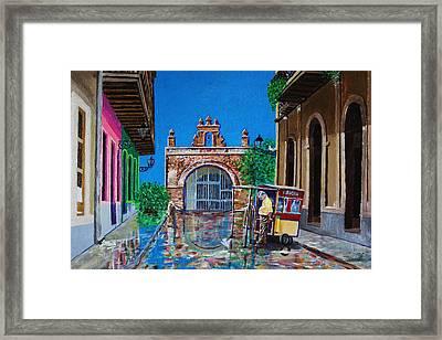 Capilla De Cristo - Old San Juan Framed Print by The Art of Alice Terrill
