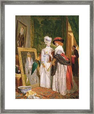 Critics On Costume, Fashions Change Framed Print by John Callcott Horsley