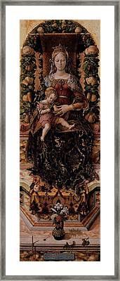 Crivelli Carlo, Madonna Of The Taper Framed Print