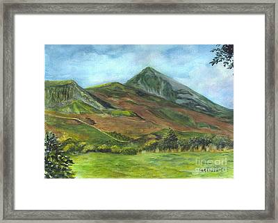 Croagh Saint Patricks Mountain In Ireland  Framed Print