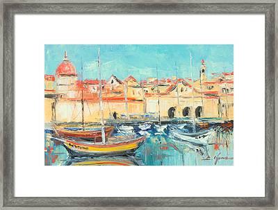 Croatia - Dubrovnik Harbour Framed Print