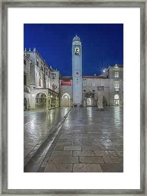 Croatia, Dubrovnik, Stradun And Bell Framed Print by Rob Tilley