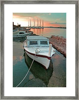 Croatian Marina Framed Print by Dennis Cox WorldViews