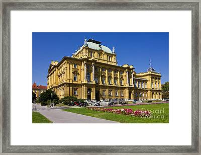 Croatian National Theatre In Zagreb Framed Print
