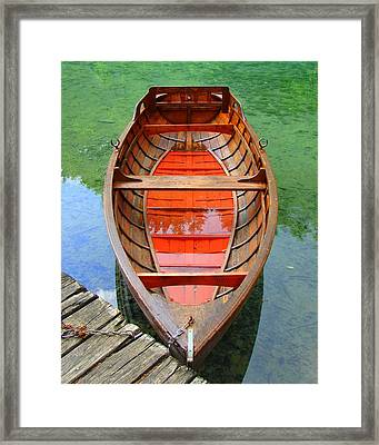 Framed Print featuring the photograph Croatian Rowboat by Ramona Johnston