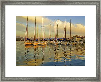 Croatian Sailboats Framed Print by Dennis Cox WorldViews