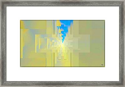 Croce Framed Print by Halina Nechyporuk