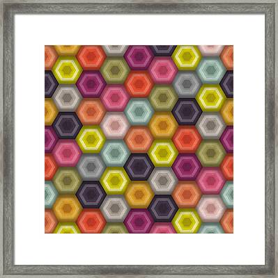 Crochet Honeycomb Framed Print by Sharon Turner