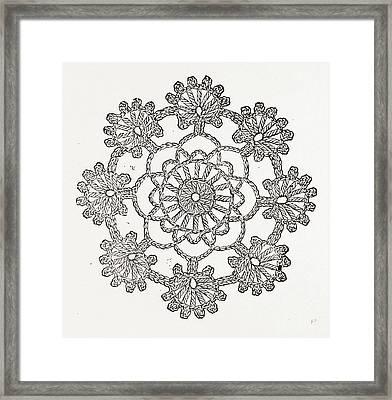 Crochet Rosette, Needlework Framed Print by Litz Collection