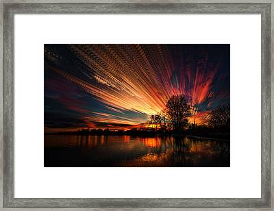 Crocheting The Clouds Framed Print by Matt Molloy