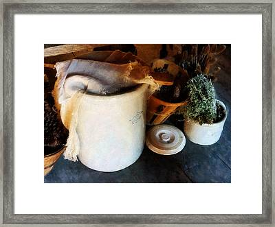 Crock And Basket Framed Print by Susan Savad