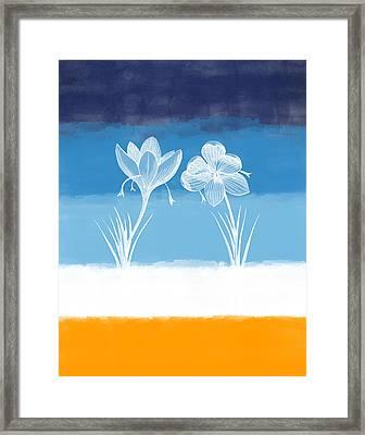 Crocus Flower Framed Print