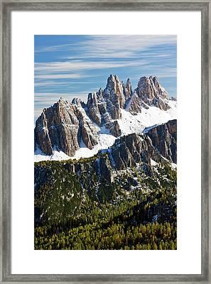 Croda Da Lago Mountain Framed Print