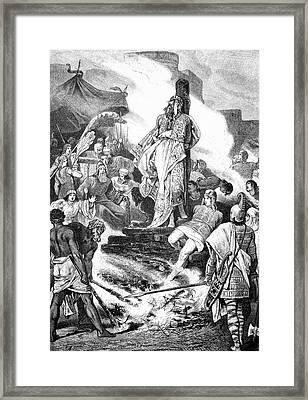 Croesus On The Stake Framed Print