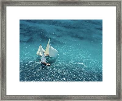 Croisement Bleu Framed Print by Marc Pelissier