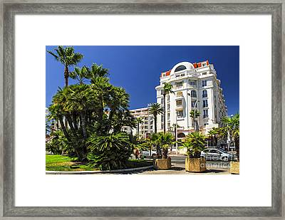 Croisette Promenade In Cannes Framed Print by Elena Elisseeva