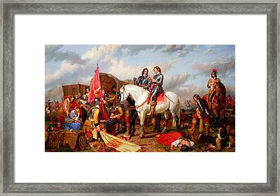 Cromwell In The Battle Of Naseby In 1645 Framed Print by Celestial Images