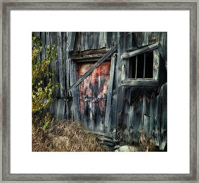 Crooked Barn - Rustic Barns Series  Framed Print by Thomas Schoeller