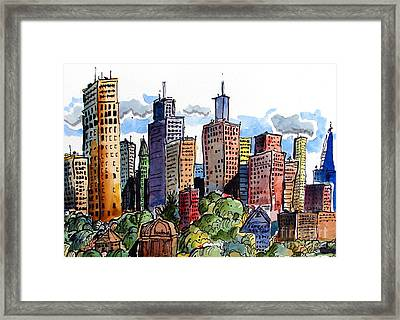 Crooked City Framed Print