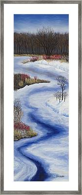 Crooked Creek Framed Print