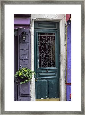 Crooked Door In Montmartre Framed Print by Georgia Fowler