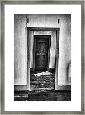 Crooked Door Framed Print