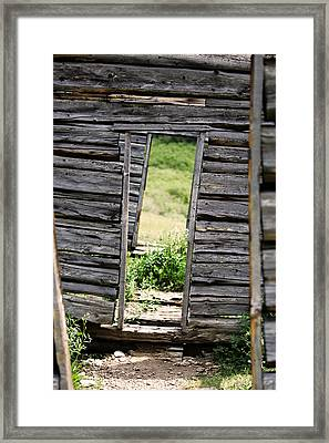 Crooked Door Framed Print by Ty Helbach