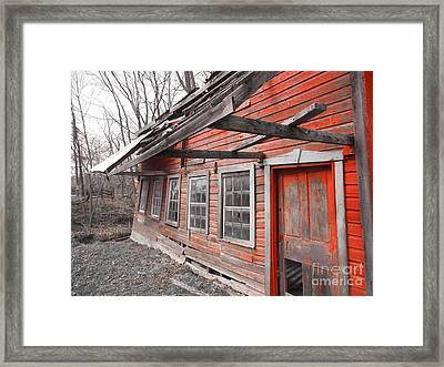 Crooked House Framed Print by Sharon Costa