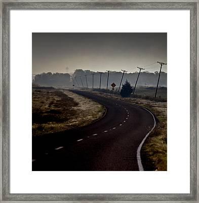 Crooked Framed Print by Mark Alder