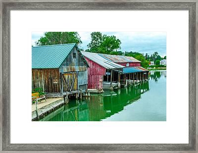 Crooked River Marina Framed Print