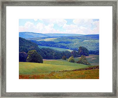 Crooked Run Valley Framed Print