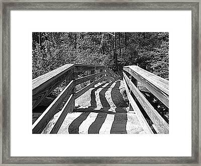 Crooked Shadows Framed Print by Lorraine Heath