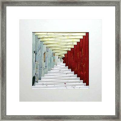 Crooked Staircase Framed Print