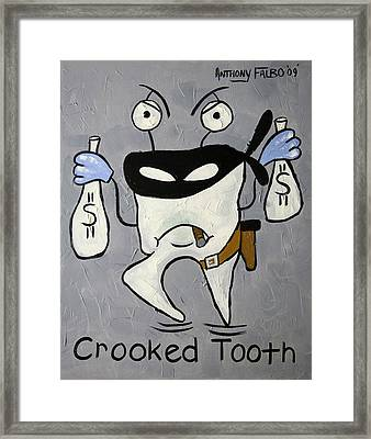 Crooked Tooth Framed Print by Anthony Falbo
