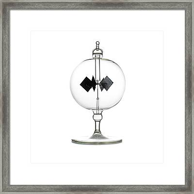 Crookes Radiometer Framed Print by Science Photo Library