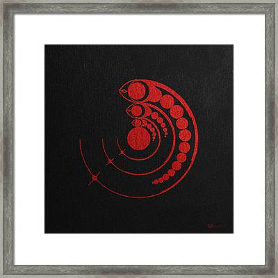 Crop Circle Formation Near Avebury Stone Circle In Wiltshire England In Red Framed Print