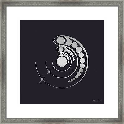 Crop Circle Formation Near Avebury Stone Circle In Wiltshire England In Silver Framed Print